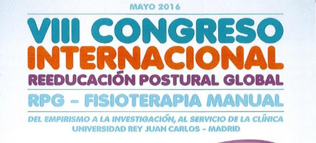 VIII CONGRÈS DE RÉÉDUCATION POSTURALE GLOBALE – RPG – MADRID – MAI 2016